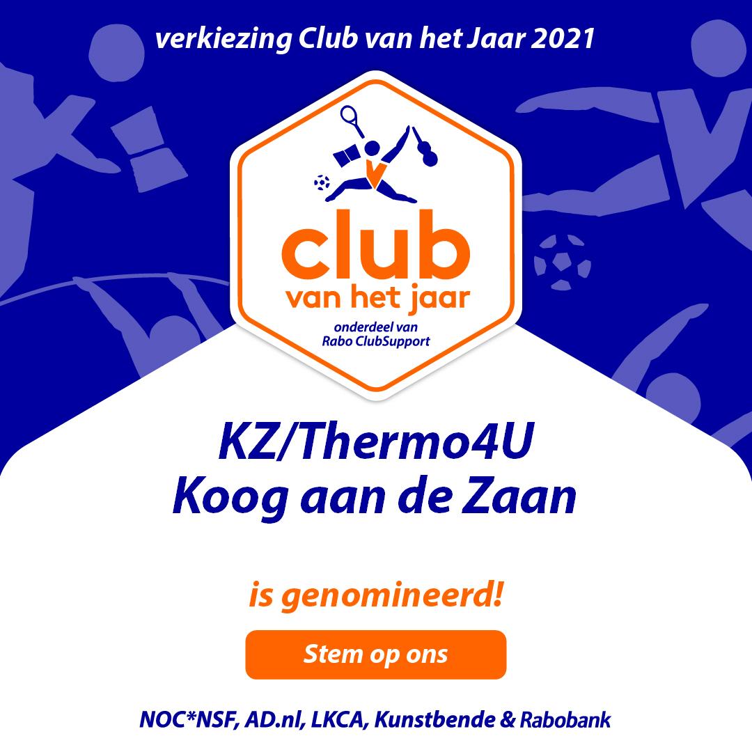 STEM! op KZ/Thermo4U voor de Club van het Jaar verkiezing